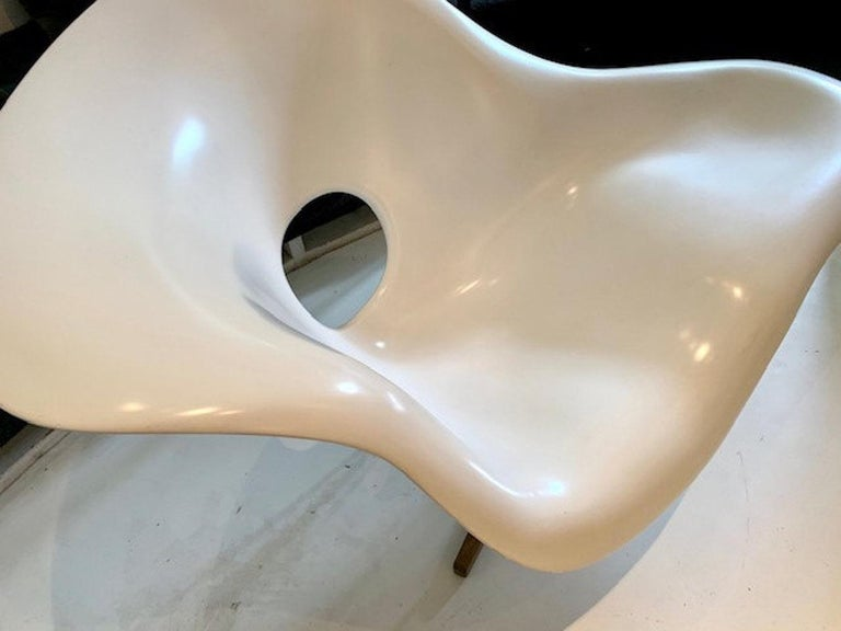 Vintage Eames Vitra La Chaise Chair, Original, Fiberglass First Generation, 1993 For Sale 1