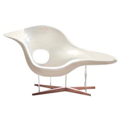 Vintage Eames Vitra La Chaise Chair, Original, Fiberglass First Generation, 1993