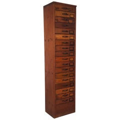 Vintage Early 20th Century Haberdashery Chest of Filing Drawers
