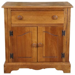 Vintage Early American Style Country Pine Farmhouse Cabinet Sideboard Console