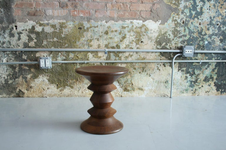 Mid-Century Modern Vintage Early Eames for Herman Miller Walnut 'Time Life' Stool For Sale
