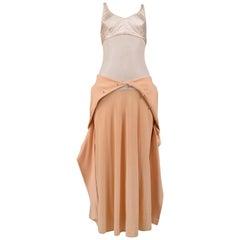 Vintage Early Helmut Lang Peach Cardigan Dress 1990