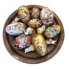 Vintage Easter Eggs in Copper Bowl