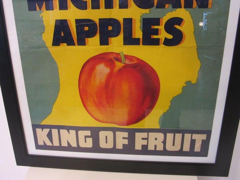 American Vintage Eat Michigan Apples Fruit Poster For Sale