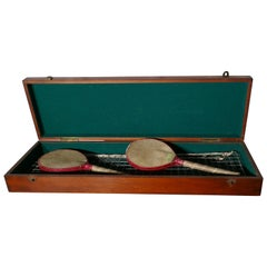 Vintage Edwardian Ping Pong or Table Tennis Set by Quiggins