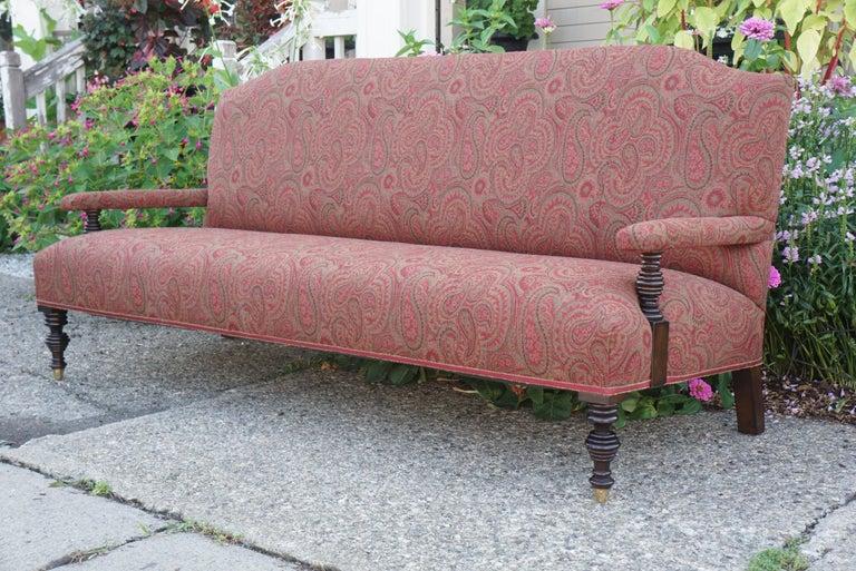 Turned Vintage Edwardian Style Sofa For Sale