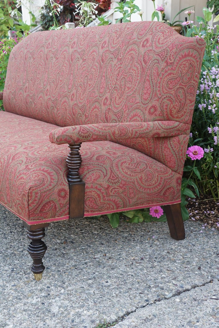 Vintage Edwardian Style Sofa In Good Condition For Sale In Hudson, NY