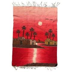 Vintage Egyptian Tapestry Kilim