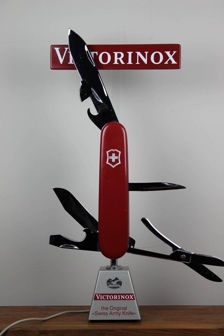 Vintage Electric Shop Display Victorinox Pocket Knives