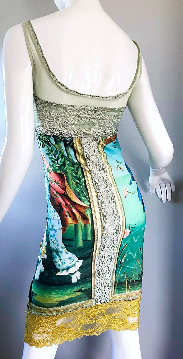 Vintage Eletra Casadei 90s Size Large Betty Boop Birth of Venus Novelty Dress For Sale 3