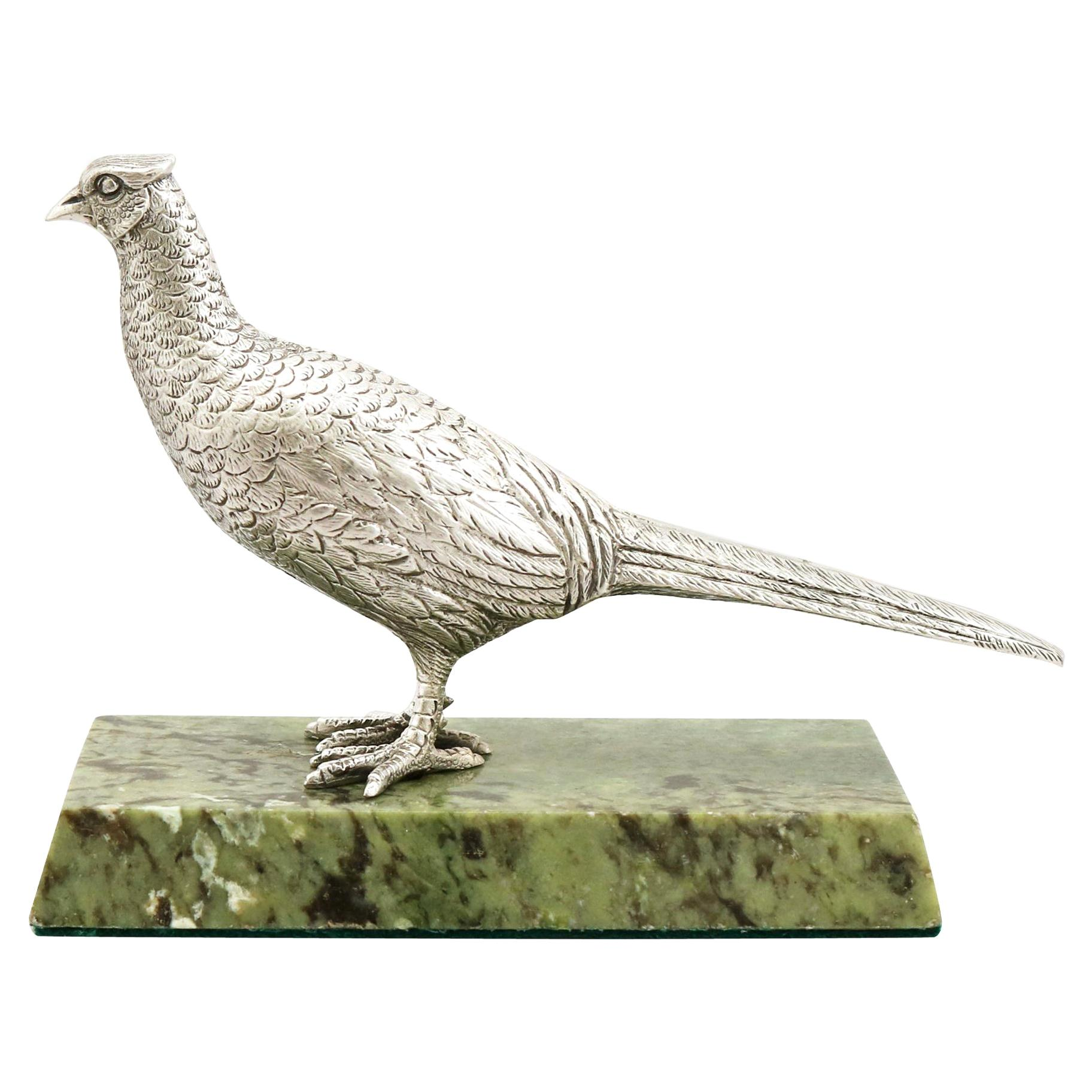 Vintage Elizabeth II 1965 Sterling Silver Pheasant Hen