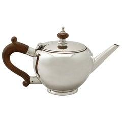 Vintage Elizabeth II George I Style Sterling Silver Bachelor Teapot