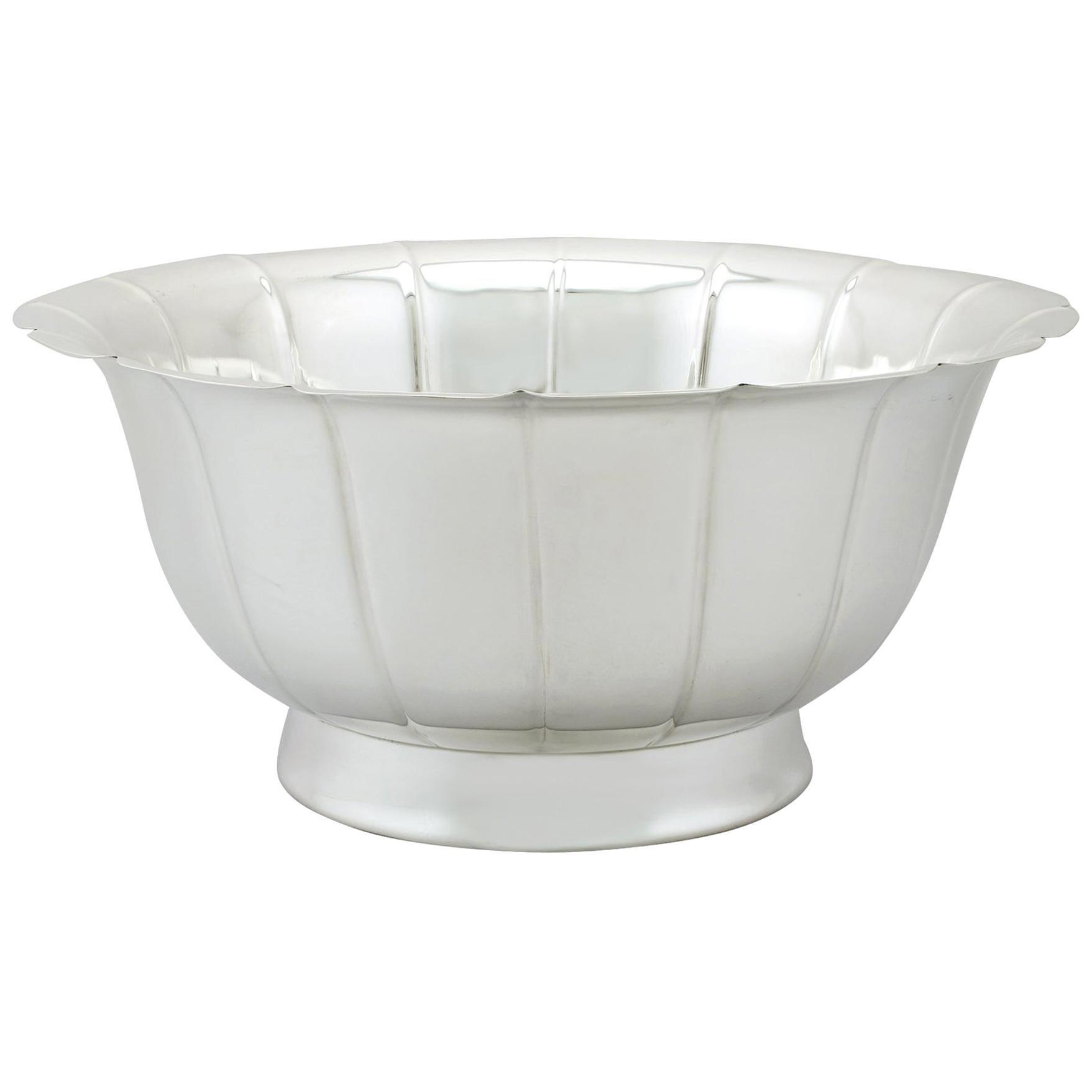Vintage Elizabeth II Sterling Silver Bowl, 1973