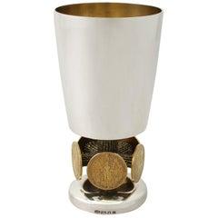Vintage Elizabeth II Sterling Silver Goblet by Stuart Devlin