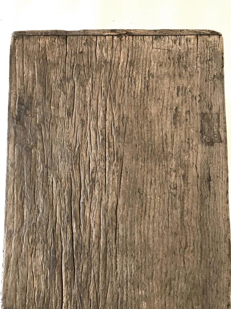 Vintage Elm Bench For Sale 7