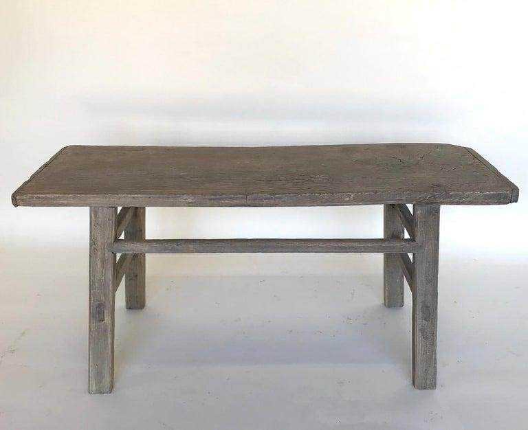 Rustic Vintage Elm Bench For Sale