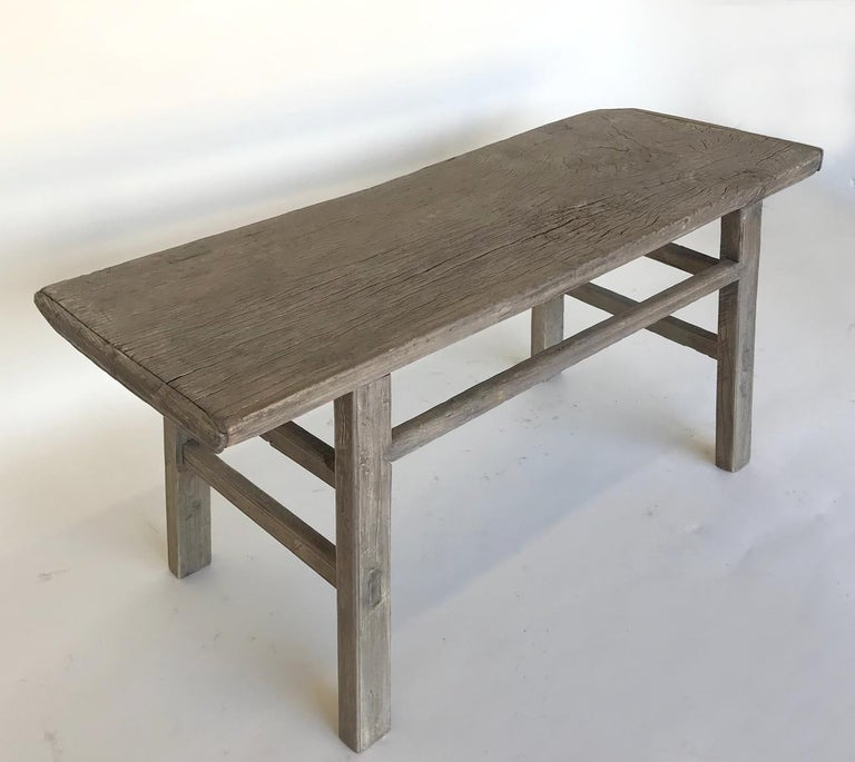 Chinese Vintage Elm Bench For Sale