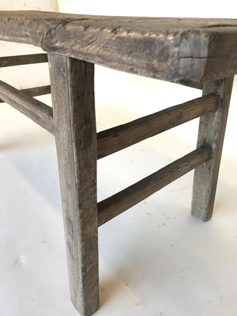 20th Century Vintage Elm Bench For Sale
