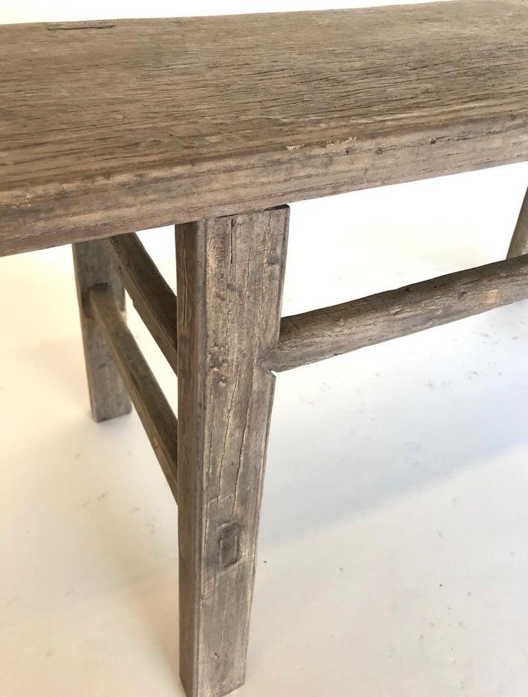 Vintage Elm Bench For Sale 1