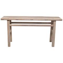 Vintage Elmwood Console Sofa Table