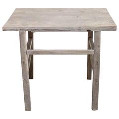 Vintage Elm Wood Tall Table Counter Island