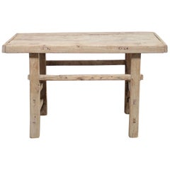 Vintage Elmwood Console Table