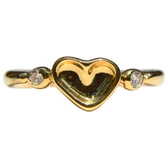 Vintage Elsa Peretti for Tiffany & Co. 18 Karat Gold Diamond Heart Ring
