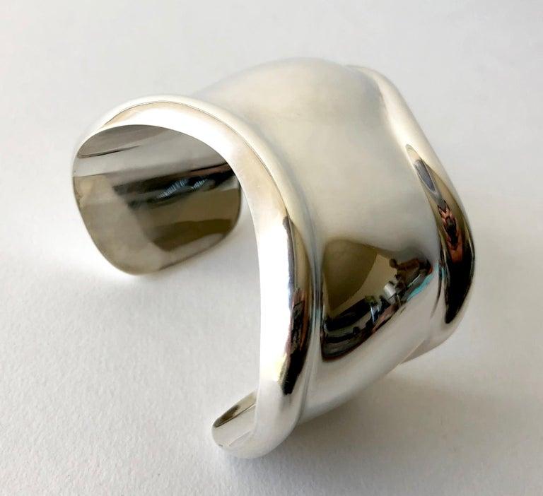 16fbcb7ad Modernist Vintage Elsa Peretti for Tiffany & Co. Sterling Silver Bone Cuff  Bracelet For Sale