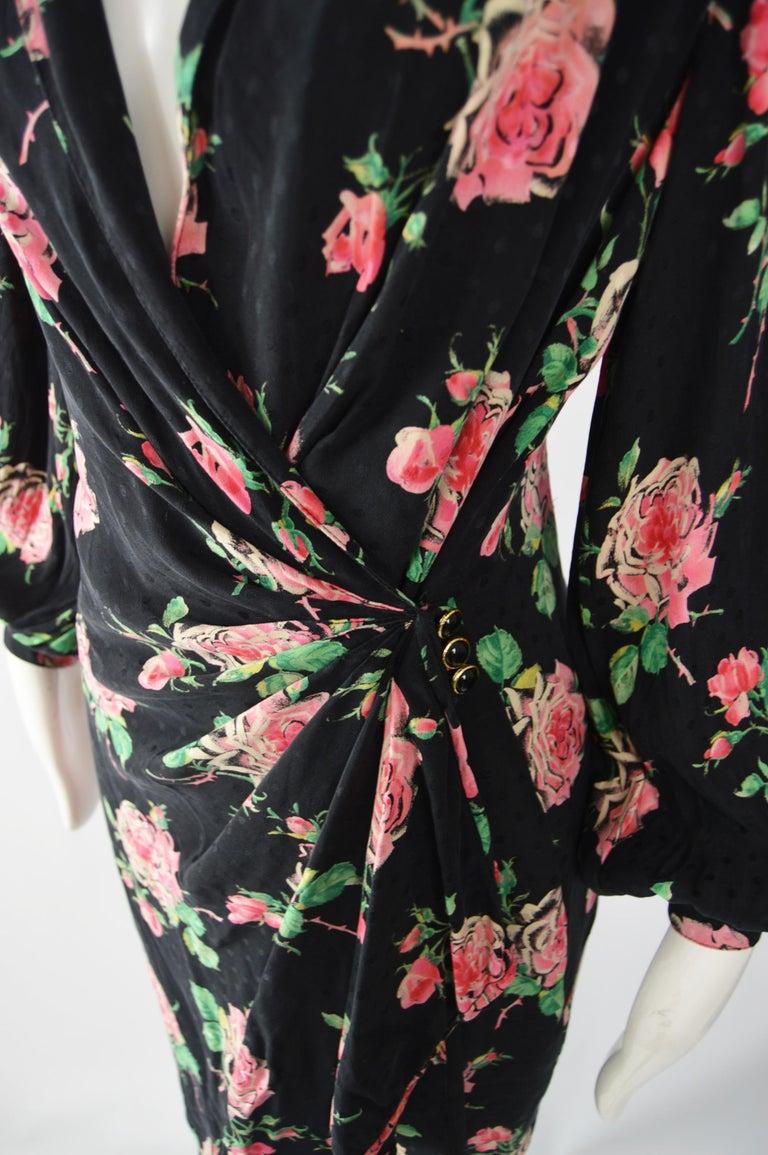 Women's Vintage Emanuel Ungaro 1980s Silk Dress For Sale