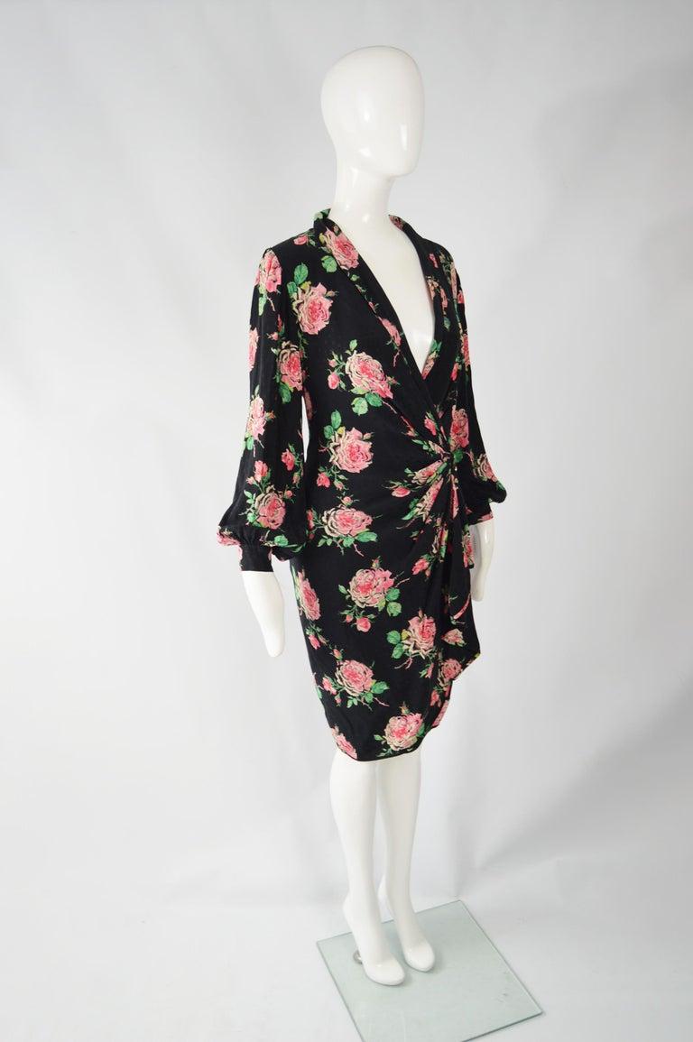Vintage Emanuel Ungaro 1980s Silk Dress For Sale 1