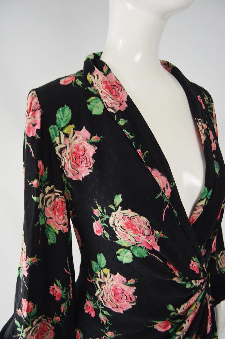 Vintage Emanuel Ungaro 1980s Silk Dress For Sale 2