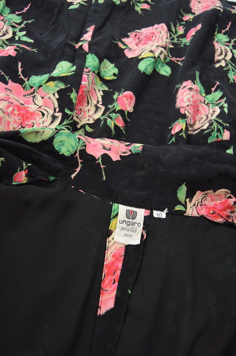 Vintage Emanuel Ungaro 1980s Silk Dress For Sale 3