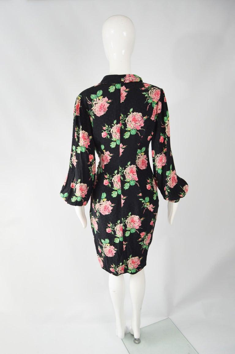 Vintage Emanuel Ungaro 1980s Silk Dress For Sale 4