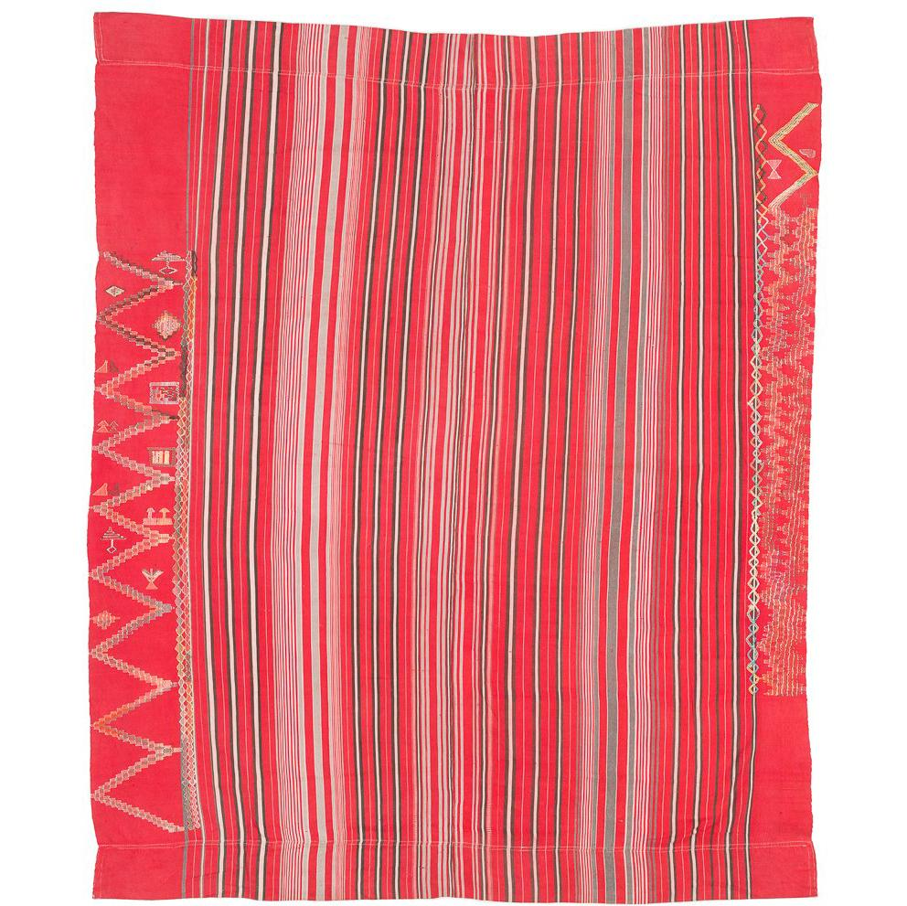 Vintage Embroidered African Wrap Textile
