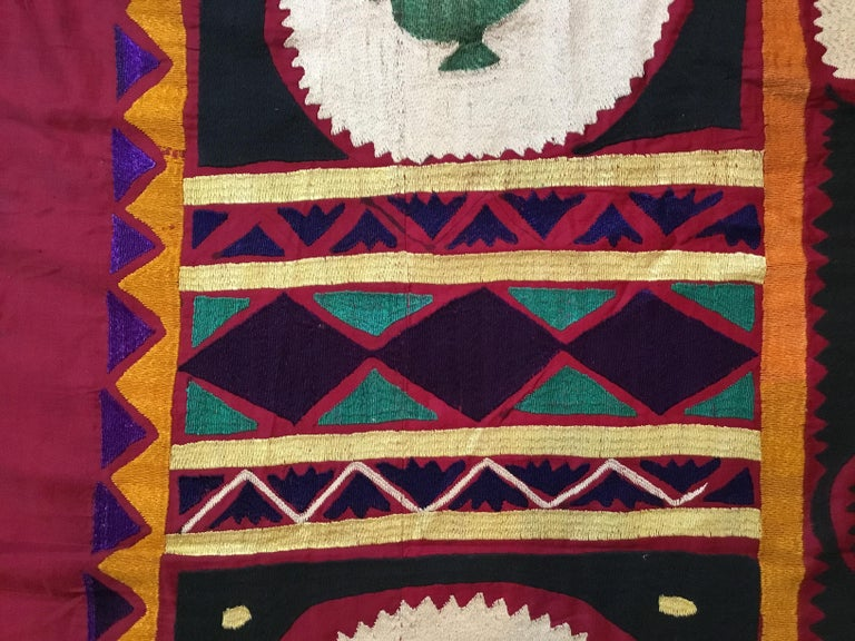 Vintage Embroidered Suzani Textile For Sale 4