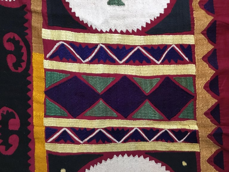 Vintage Embroidered Suzani Textile For Sale 5