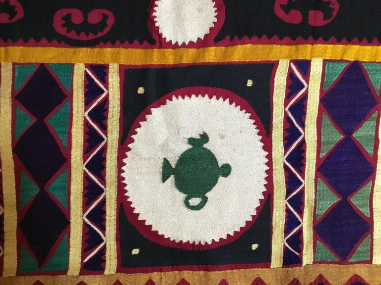 Vintage Embroidered Suzani Textile For Sale 8