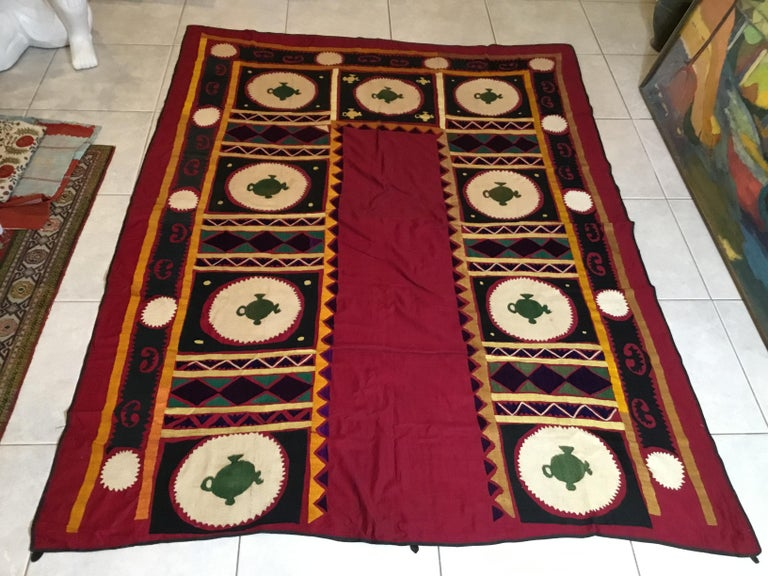 Vintage Embroidered Suzani Textile For Sale 9