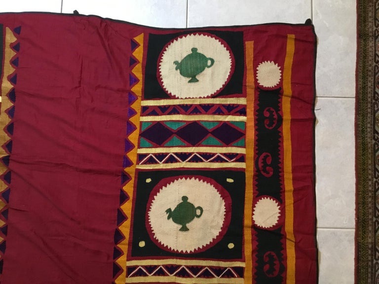 Vintage Embroidered Suzani Textile For Sale 1