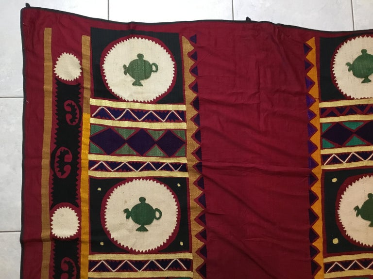 Vintage Embroidered Suzani Textile For Sale 2