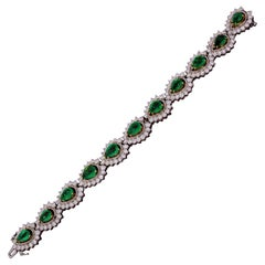 Vintage Emerald and Diamond Bracelet