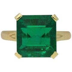Vintage Emerald Solitaire Ring, circa 1980