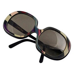 Vintage EMILIO PUCCI Oversized Abstract Psychedelic Sunglasses
