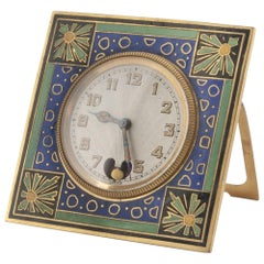 Vintage Enamel and Metal Clock, Russia, First Half of the 20th Century
