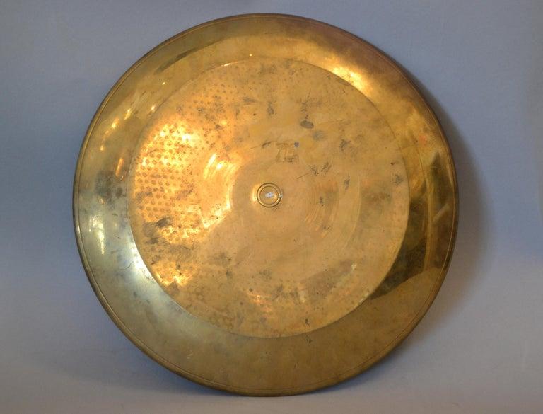 Vintage Enamel Brass Decorative Plate, Centrepiece For Sale 2