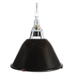 Vintage Enamel Factory, Industrial Pendant Lamp