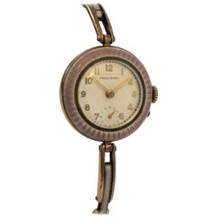 Vintage Enamel Ladies Mechanical Wristwatch