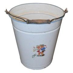 Vintage Enamel Water Can, 1950s