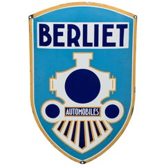 Vintage Enameled Advertising Sign Berliet