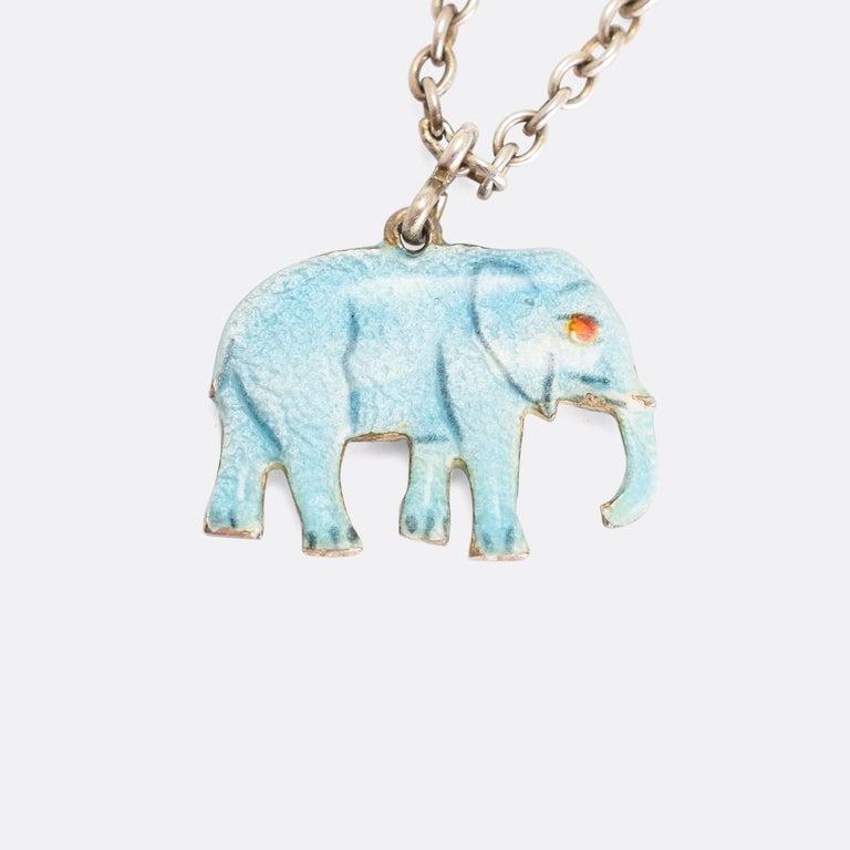 "Art Deco Vintage Enamelled ""Elephant, Bear and Hare"" Bracelet For Sale"